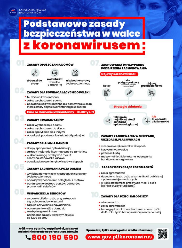 zasady postępowanie w walce z koronawirusem