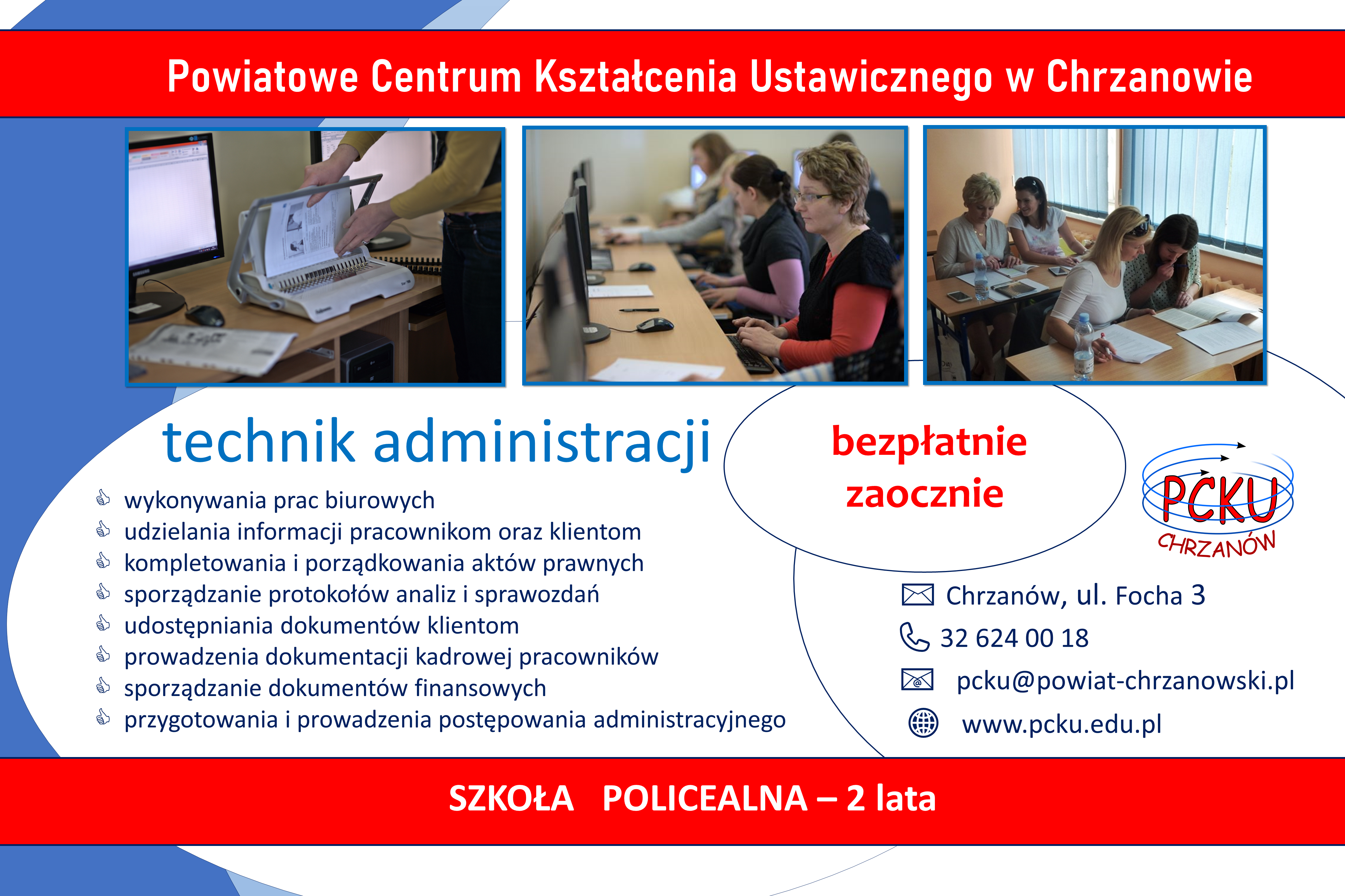 plakat technik administracji