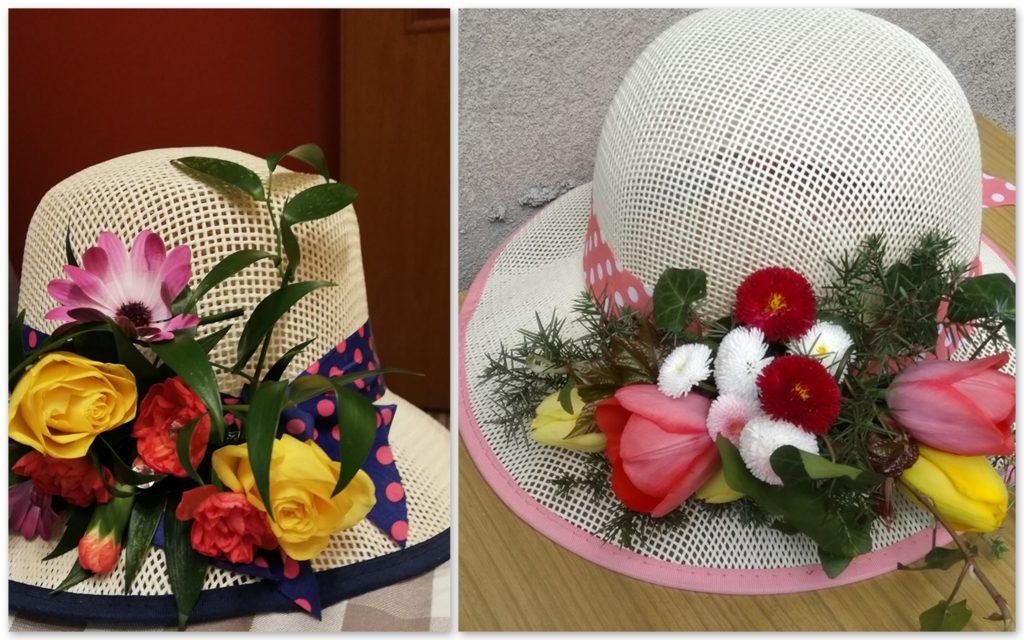 kapelusze dekoracje kwiatowe