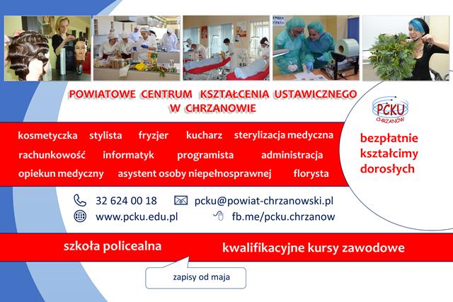 plakat PCKU z ofertą edukacyjną